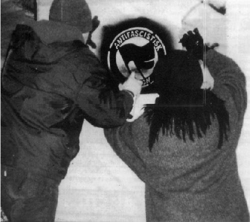 Antifa sprühen