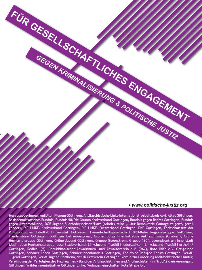 Für gesellschaftliches Engagement - Gegen Kriminalisierung & Politische Justiz