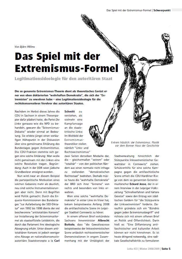 Das Spiel mit der<br /> Extremismus-Formel