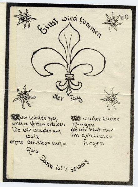Handschriftliches Flugblatt von Wuppertaler Edelweißpiraten