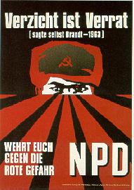 NPD Wahlkampfplakat von 1972