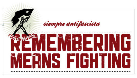 Remembering means fighting!